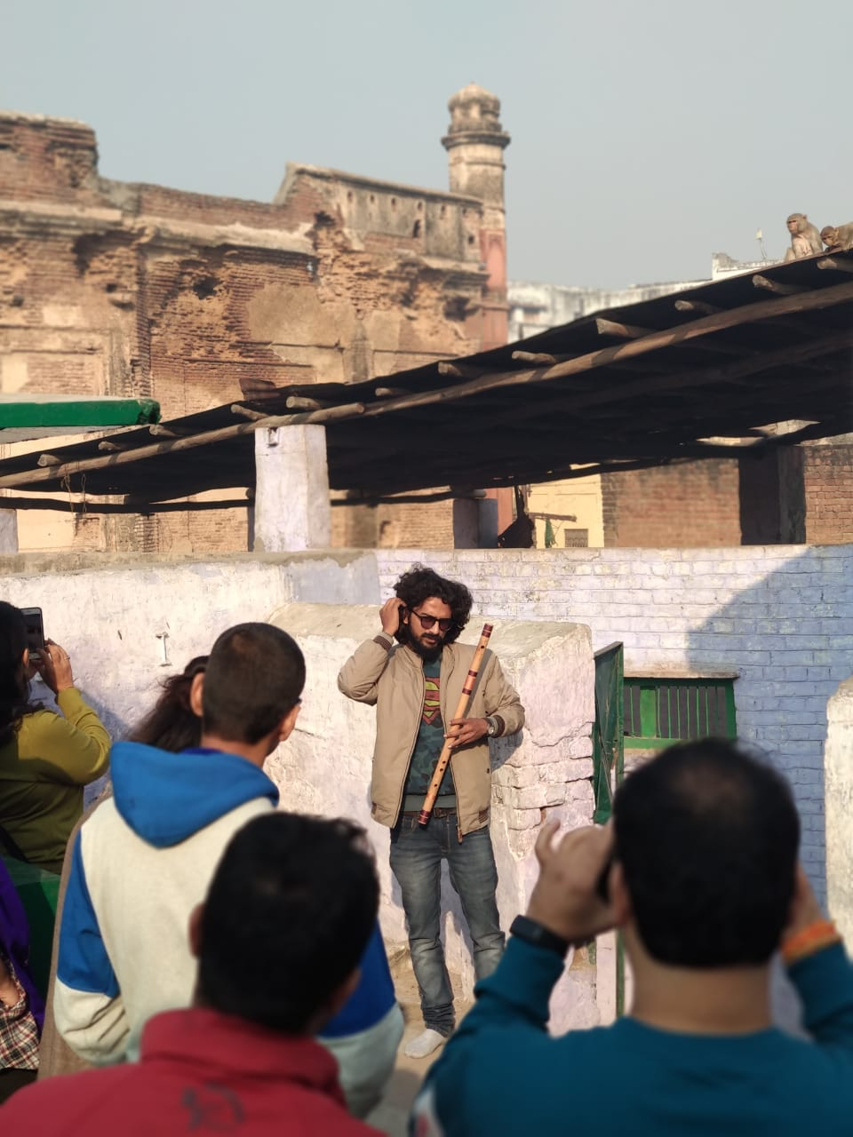 Anal Jha during one of his heritage walks through Agra