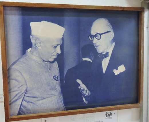 Pt Nehru with Corbusier